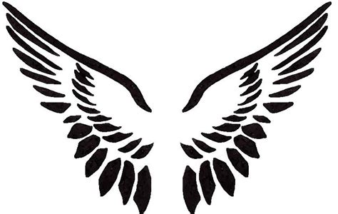 Angel Wings Outline - ClipArt Best