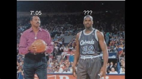 How tall is Shaquille O'Neal (Shaq!) really? - YouTube