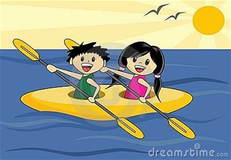 Boy And Girl In Canoe Royalty Free Stock Images - Image