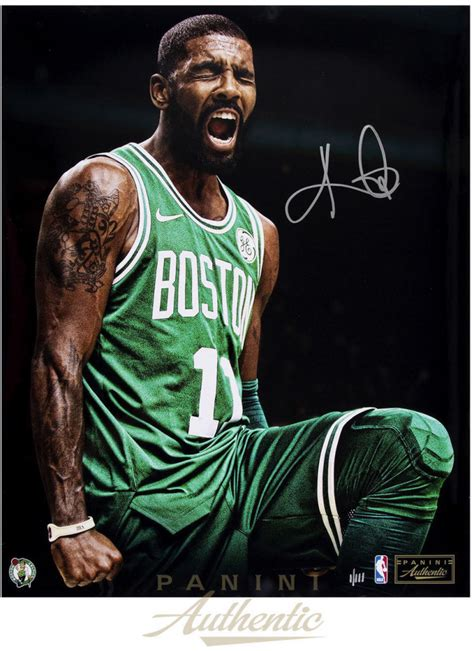 """Kyrie Irving Signed Celtics """"Intensity"""" 16x20 Limited"""