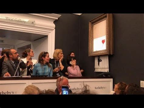 Banksy Shreds 'Girl with Balloon' Painting after Sotheby's