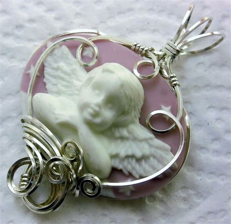 Angel Cameo Pendant 925 Sterling Silver Pink | eBay
