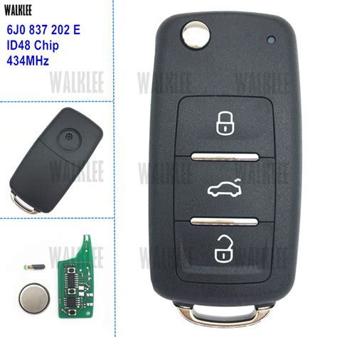 WALKLEE 6J0 837 202 E Vehicle Remote Key for SEAT