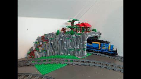 New train tunnel in my Lego City - YouTube