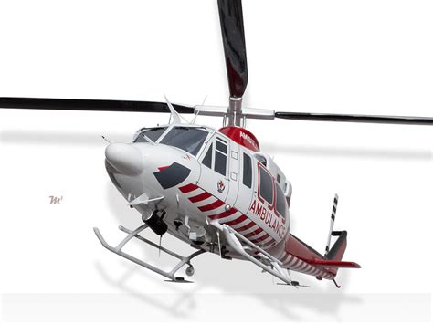 Bell 412EP Air Ambulance Victoria HEMS 3 Model Helicopters